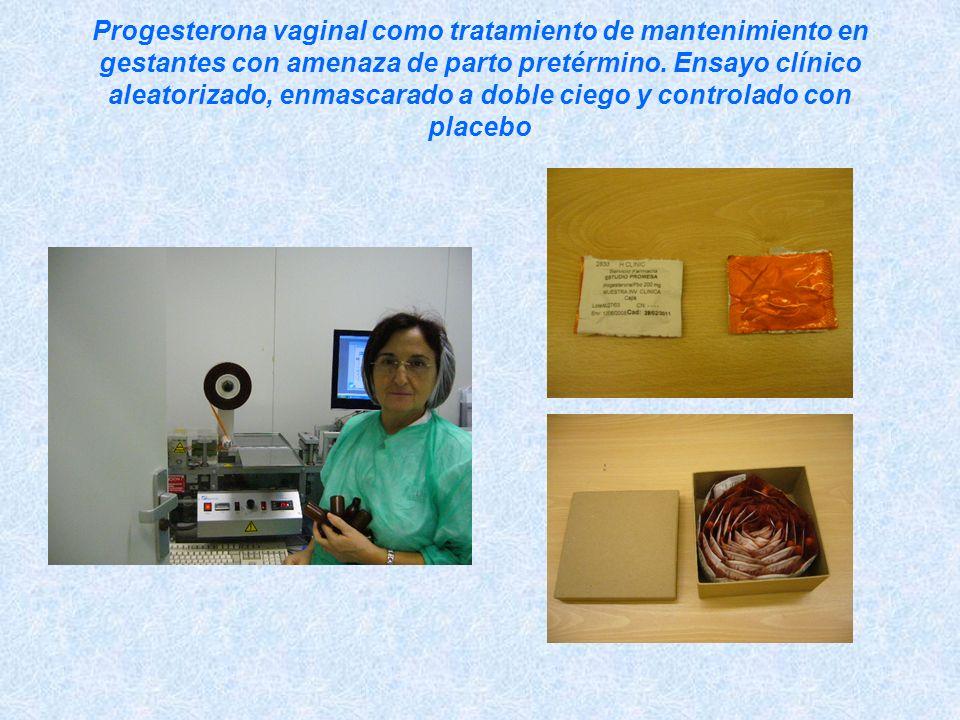 Progesterona vaginal como tratamiento de mantenimiento en gestantes con amenaza de parto pretérmino.
