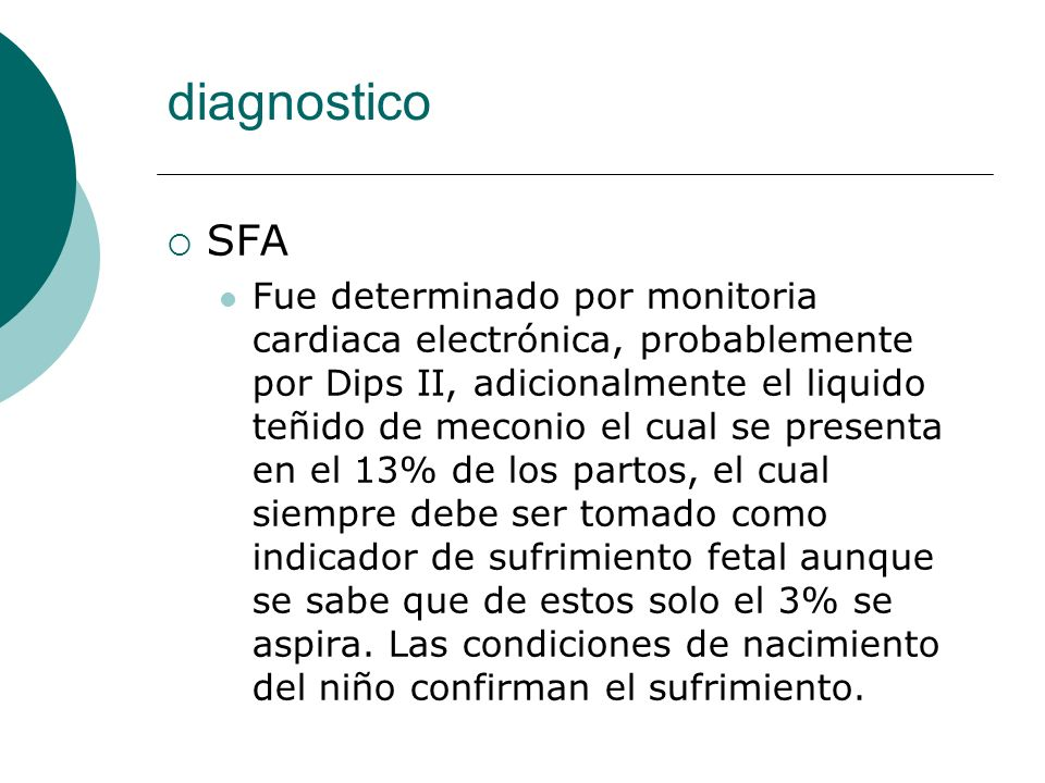 diagnostico SFA.