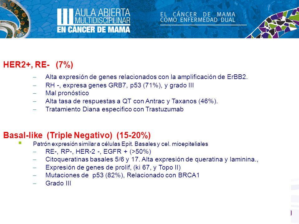 Basal-like (Triple Negativo) (15-20%)