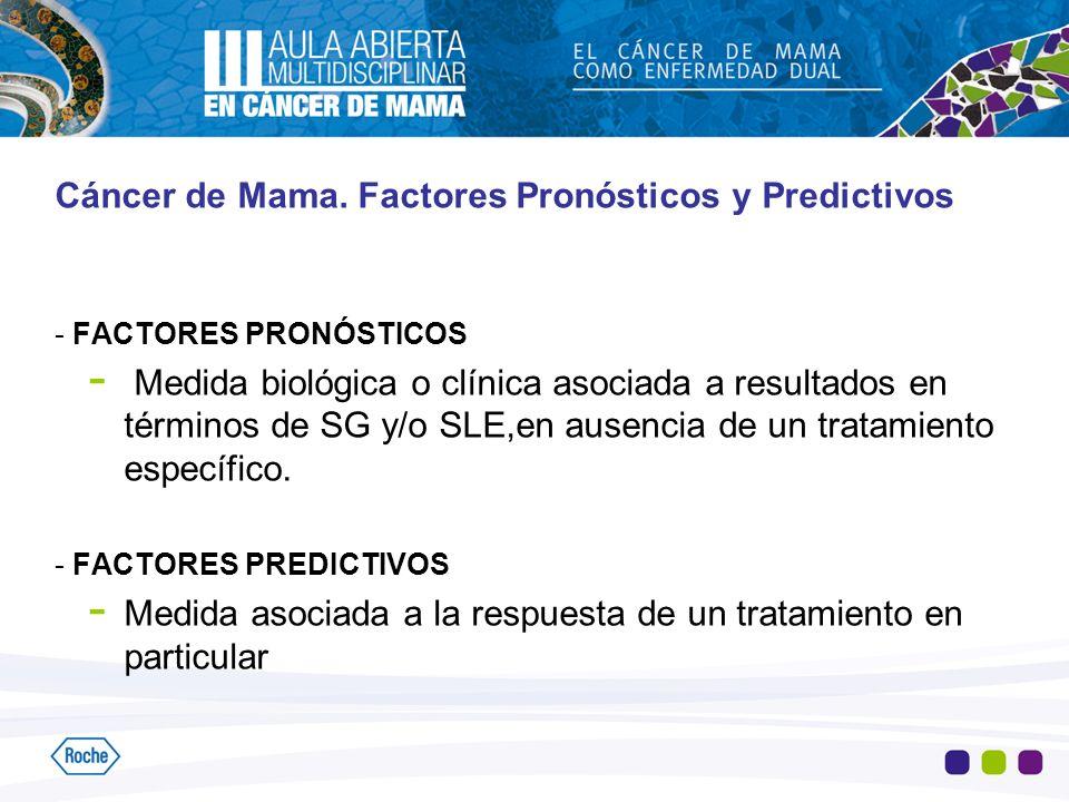 Cáncer de Mama. Factores Pronósticos y Predictivos