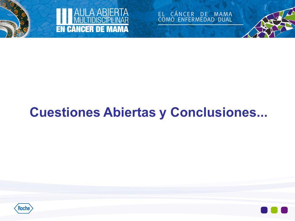 Cuestiones Abiertas y Conclusiones...