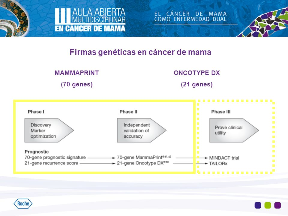 Firmas genéticas en cáncer de mama