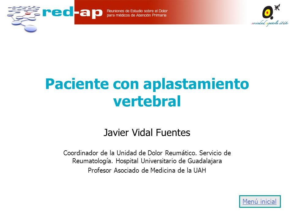 Paciente con aplastamiento vertebral