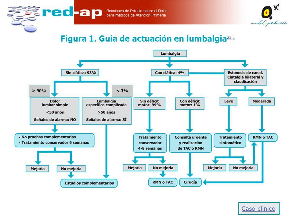 Figura 1. Guía de actuación en lumbalgia23,2
