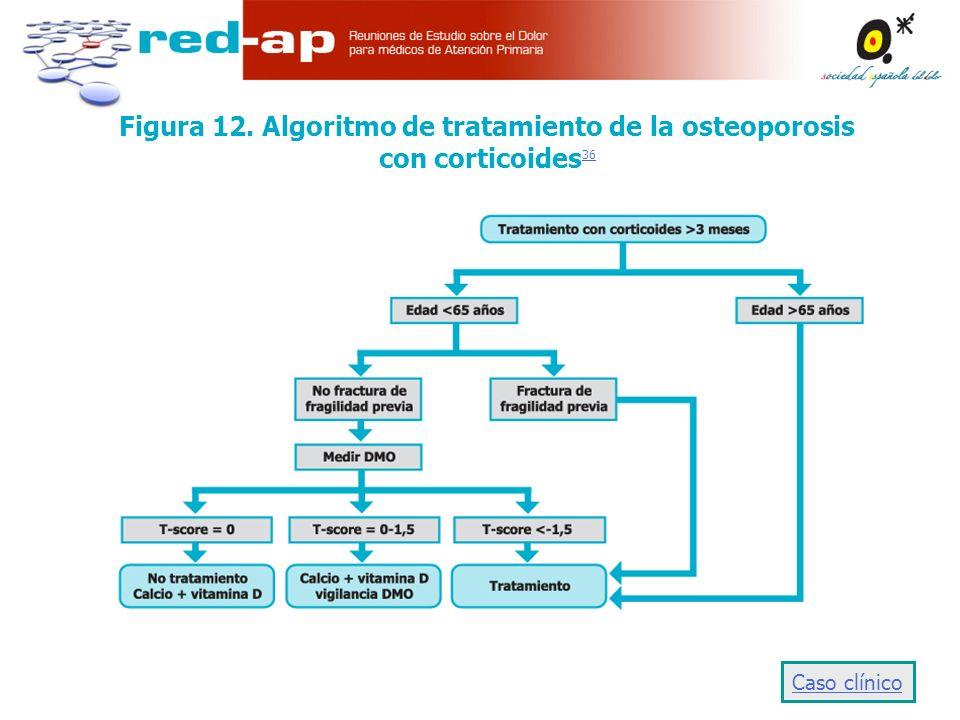 Figura 12. Algoritmo de tratamiento de la osteoporosis con corticoides36