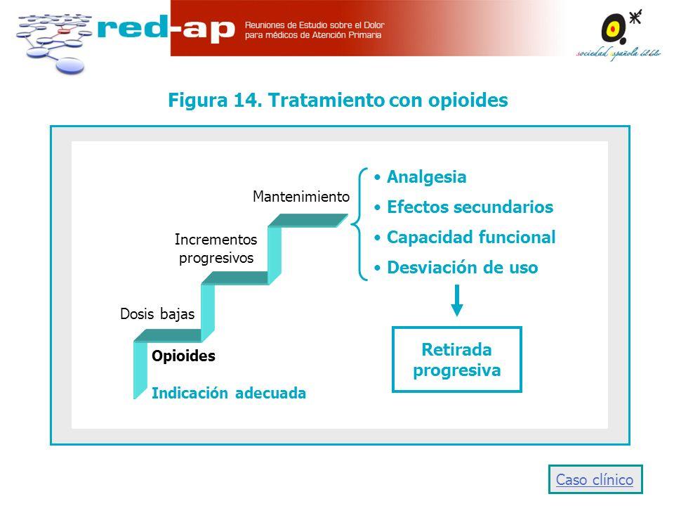 Figura 14. Tratamiento con opioides