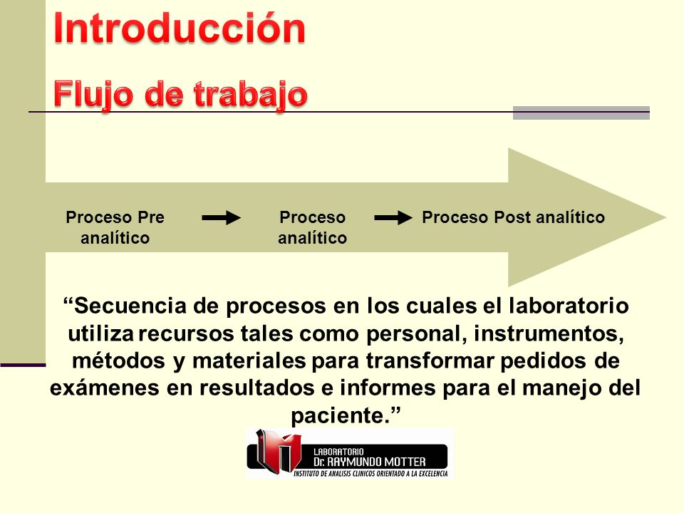 Proceso Post analítico