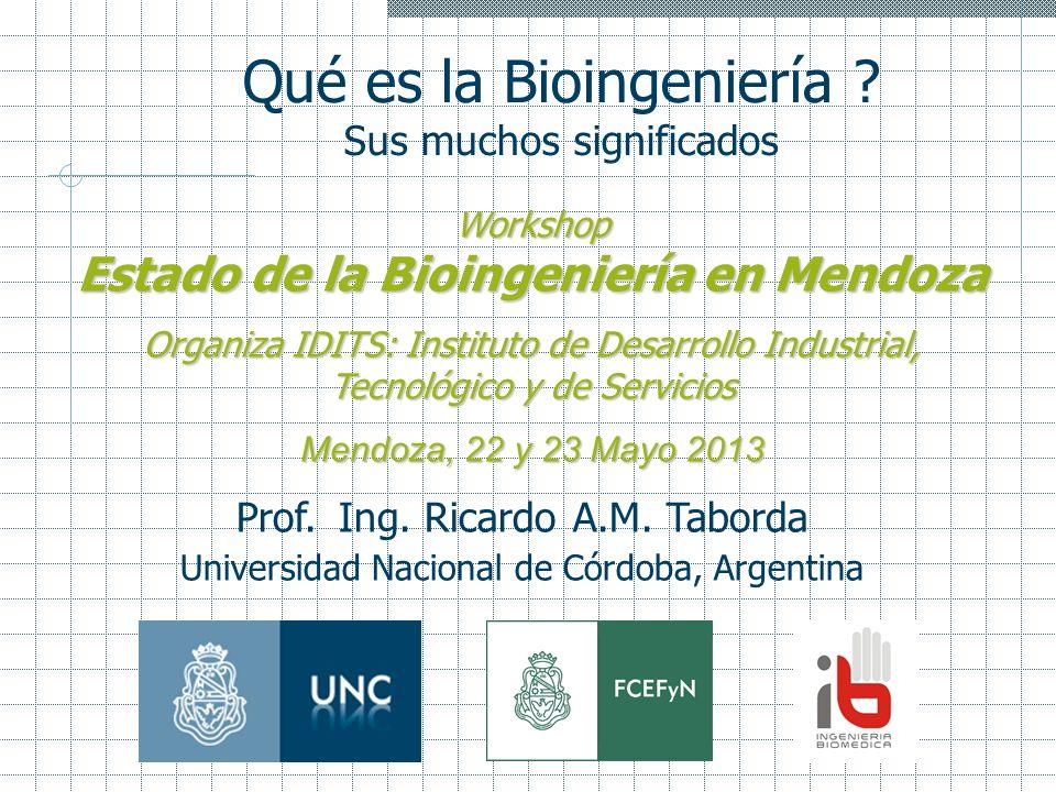 Estado de la Bioingeniería en Mendoza