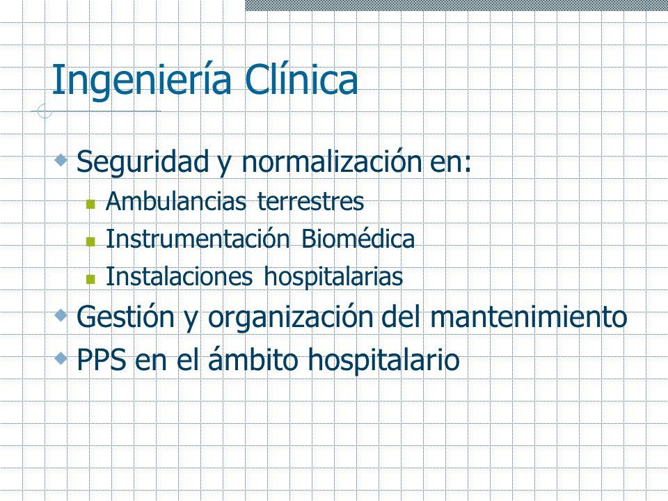 Ingeniería Clínica Seguridad y normalización en: