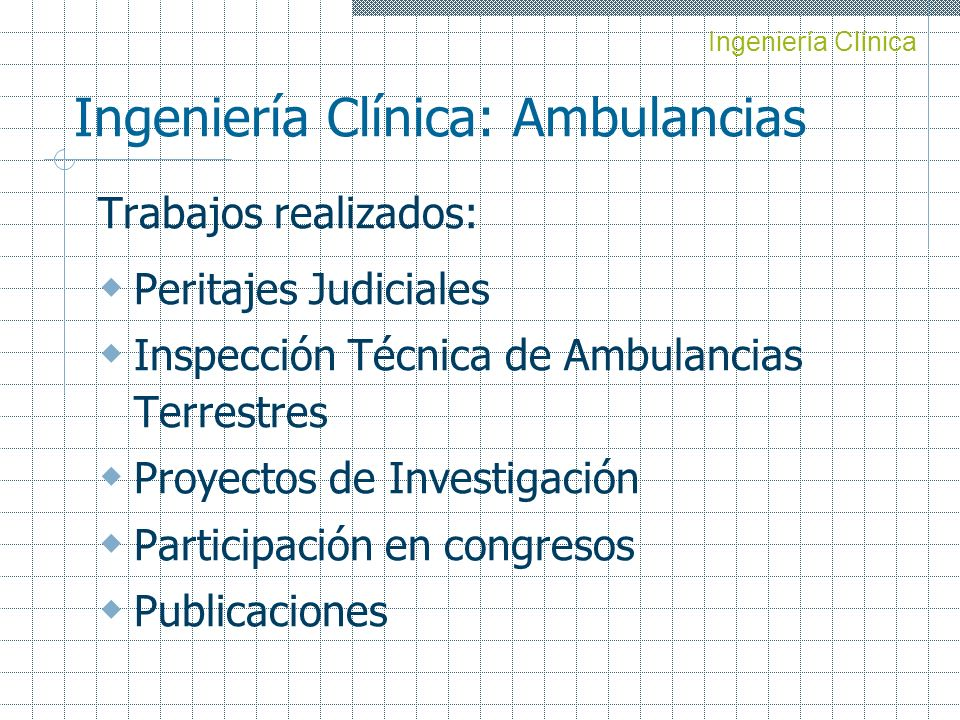 Ingeniería Clínica: Ambulancias
