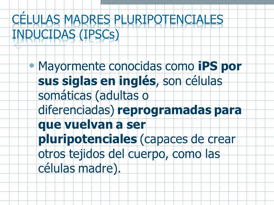 Células madres pluripotenciales inducidas (IPSCs)