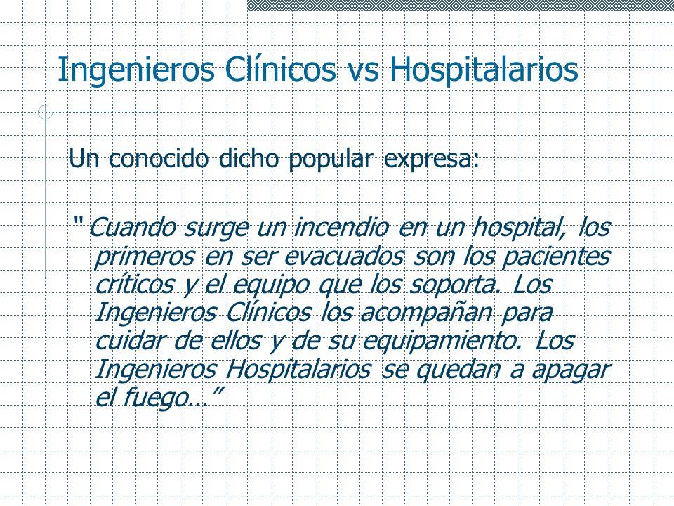 Ingenieros Clínicos vs Hospitalarios
