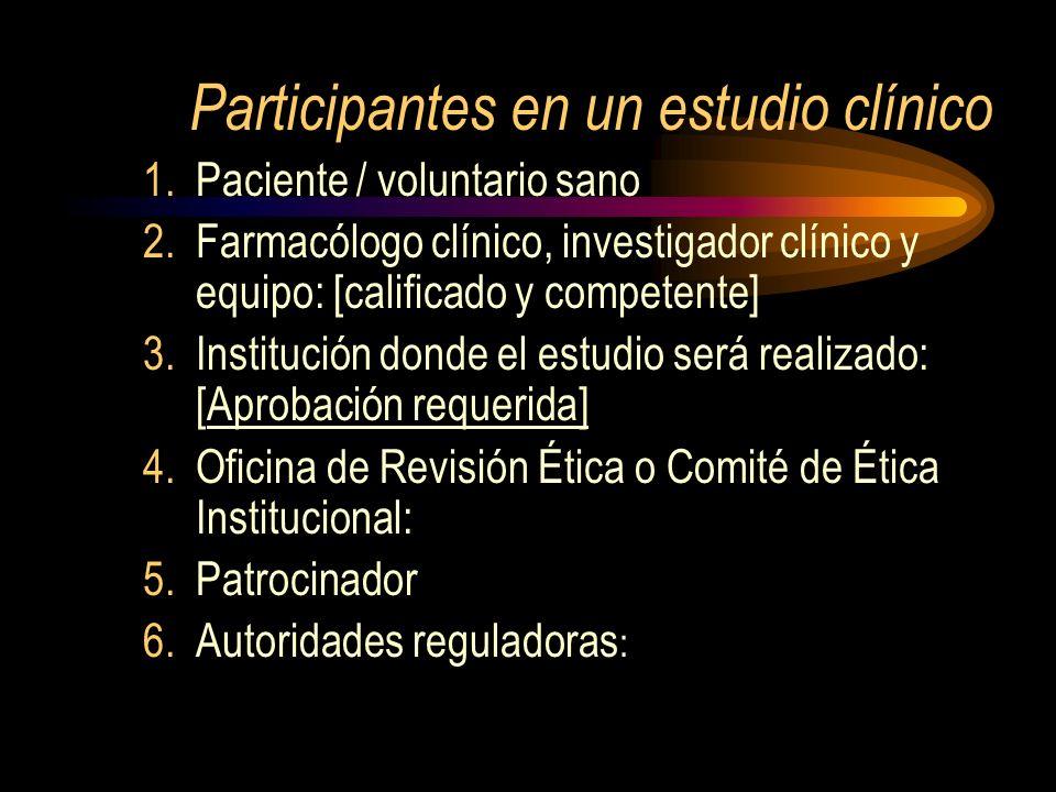 Participantes en un estudio clínico