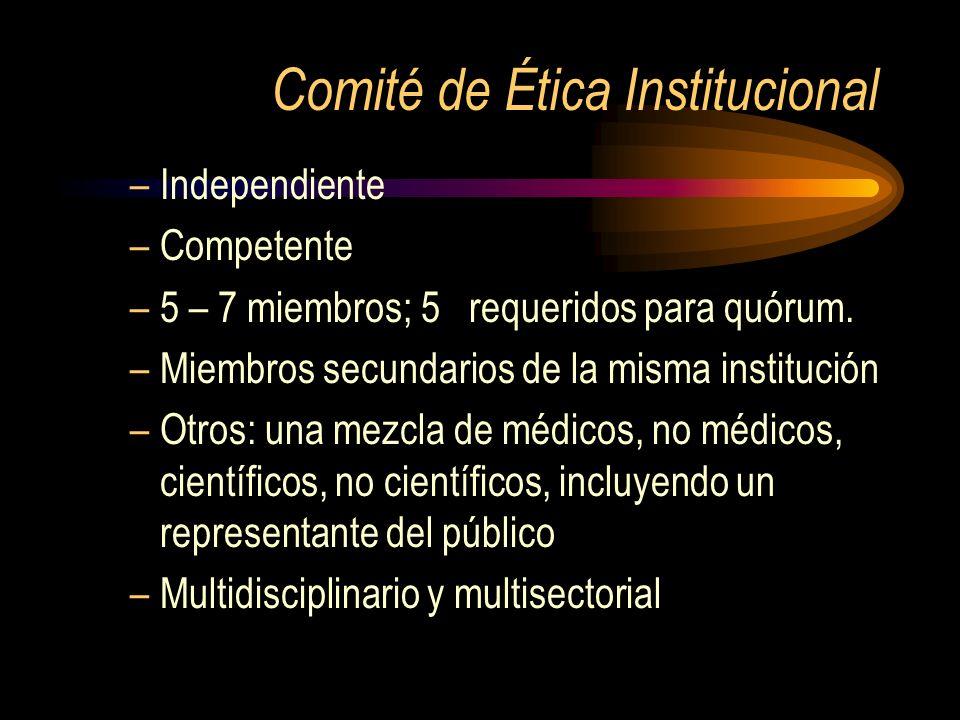 Comité de Ética Institucional