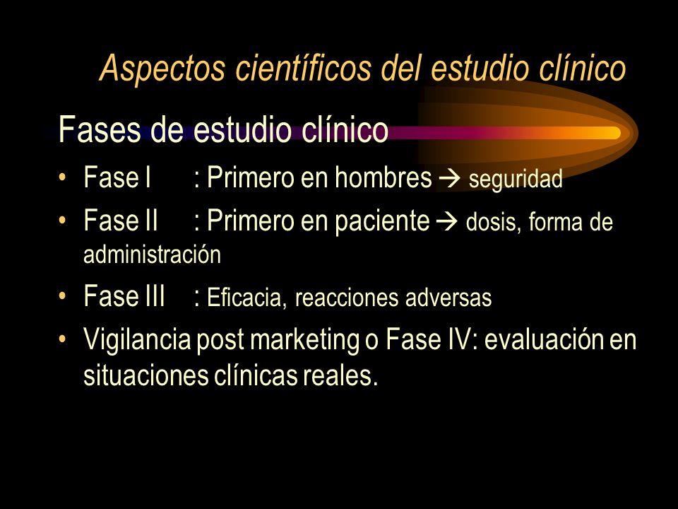 Aspectos científicos del estudio clínico