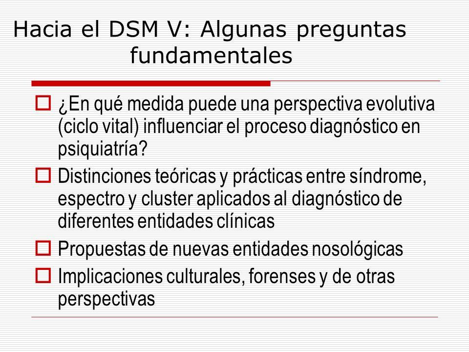 Hacia el DSM V: Algunas preguntas fundamentales