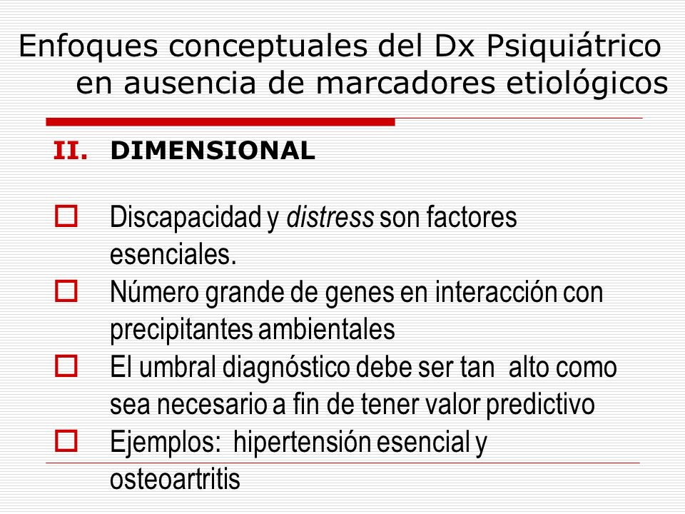 Discapacidad y distress son factores esenciales.