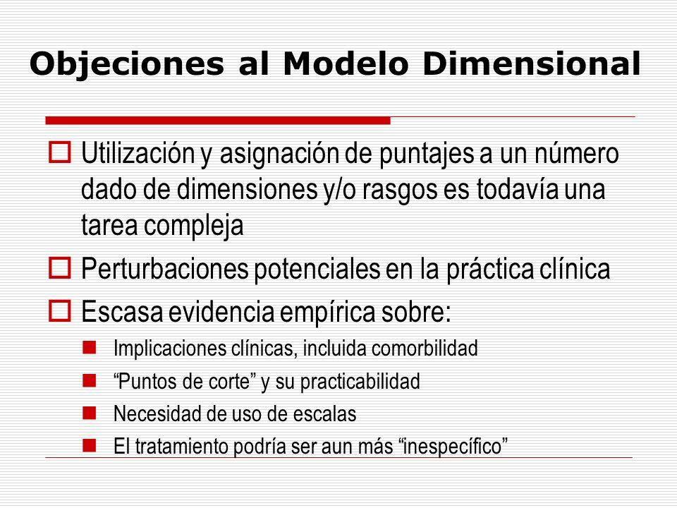 Objeciones al Modelo Dimensional