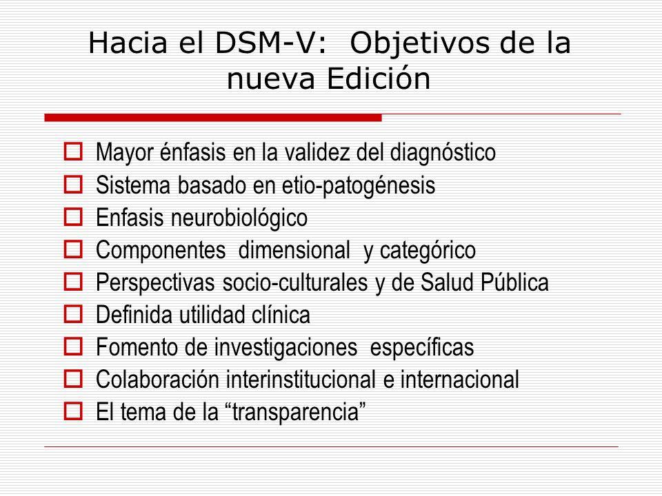 Hacia el DSM-V: Objetivos de la nueva Edición