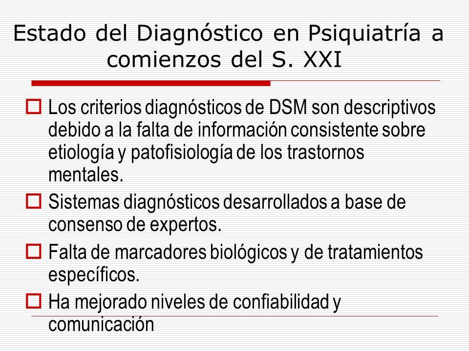 Estado del Diagnóstico en Psiquiatría a comienzos del S. XXI