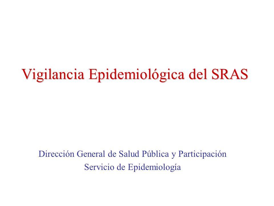 Vigilancia Epidemiológica del SRAS