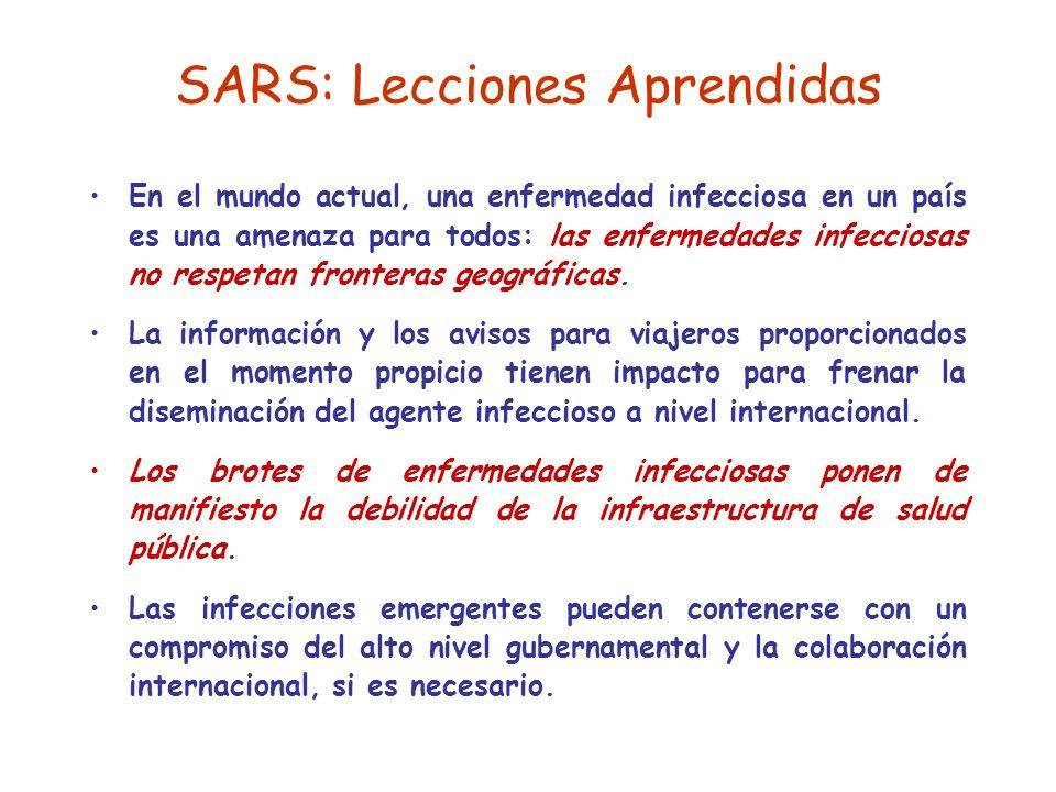 SARS: Lecciones Aprendidas