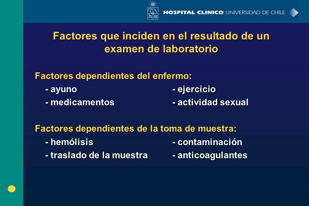 Factores que inciden en el resultado de un examen de laboratorio