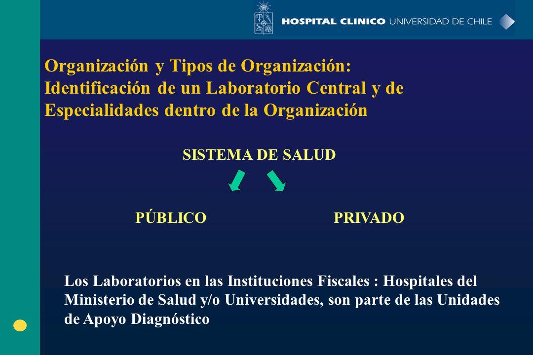 Organización y Tipos de Organización: Identificación de un Laboratorio Central y de Especialidades dentro de la Organización