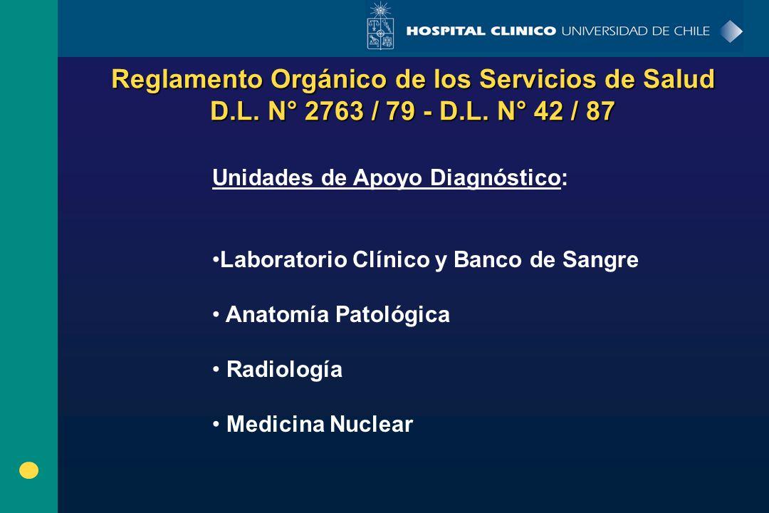 Reglamento Orgánico de los Servicios de Salud D.L. N° 2763 / 79 - D.L. N° 42 / 87