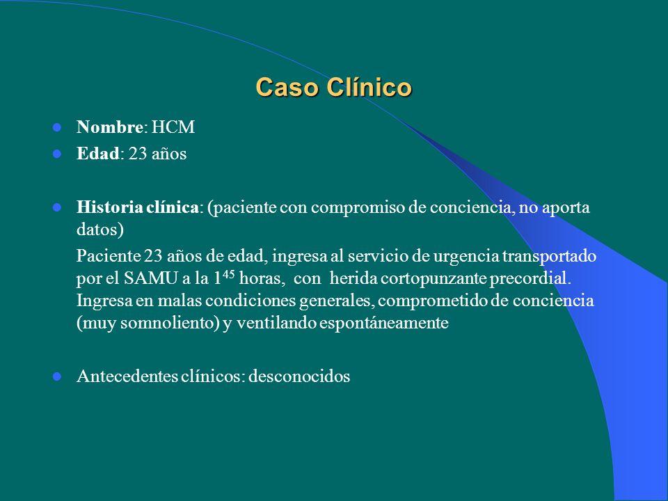Caso Clínico Nombre: HCM Edad: 23 años