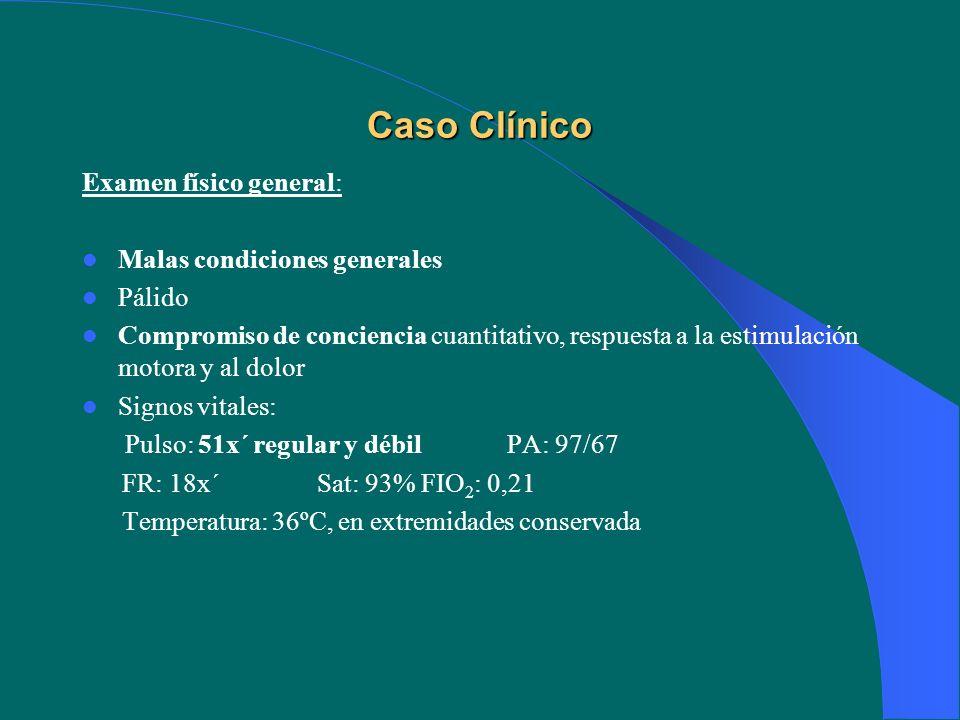 Caso Clínico Examen físico general: Malas condiciones generales Pálido