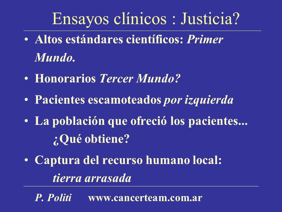 Ensayos clínicos : Justicia