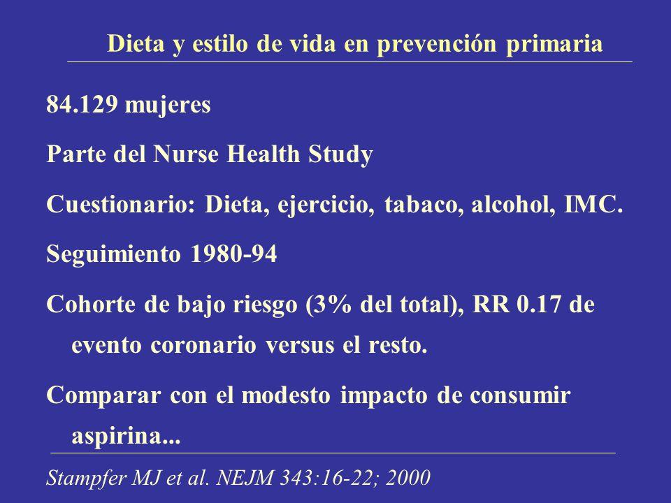 Dieta y estilo de vida en prevención primaria