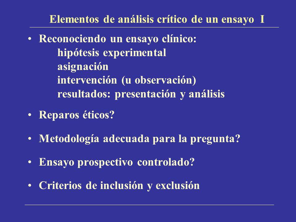 Elementos de análisis crítico de un ensayo I