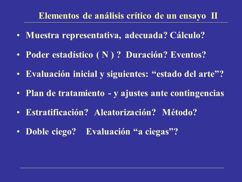 Elementos de análisis crítico de un ensayo II