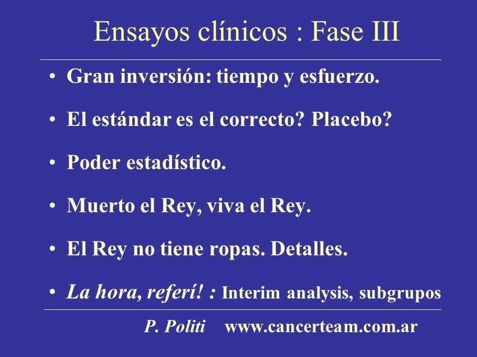 Ensayos clínicos : Fase III