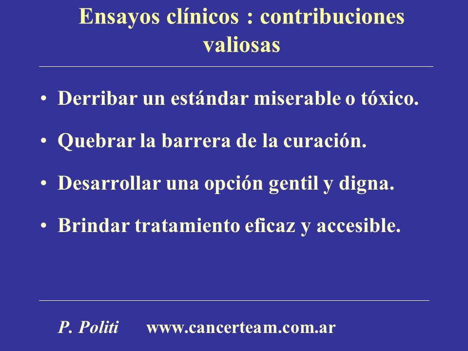Ensayos clínicos : contribuciones valiosas