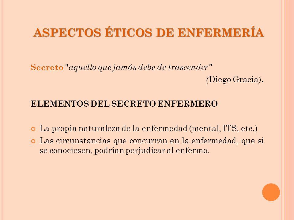 ASPECTOS ÉTICOS DE ENFERMERÍA
