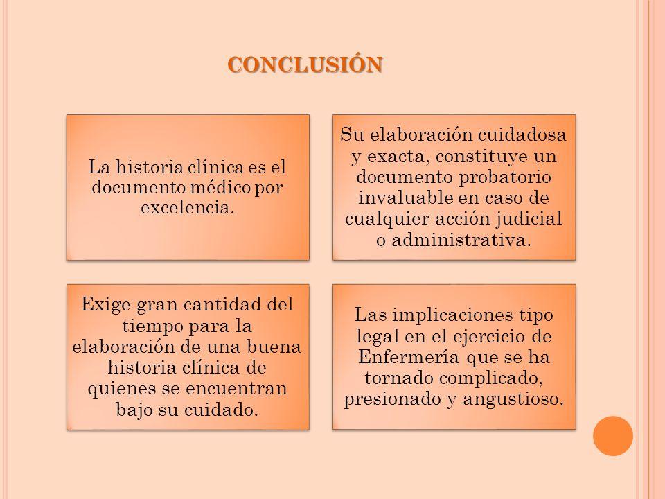 La historia clínica es el documento médico por excelencia.