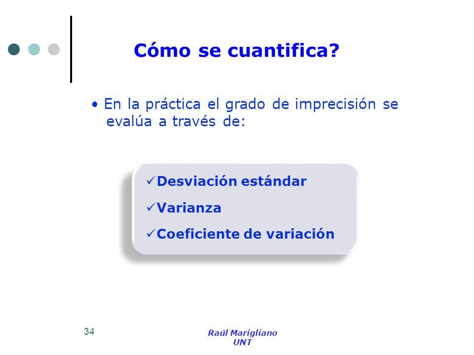 Cómo se cuantifica En la práctica el grado de imprecisión se