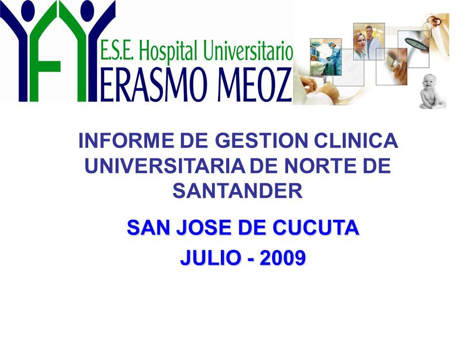 INFORME DE GESTION CLINICA UNIVERSITARIA DE NORTE DE SANTANDER