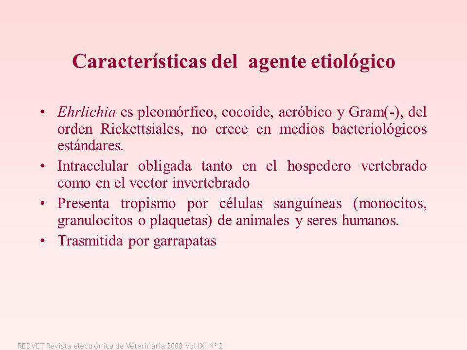 Características del agente etiológico