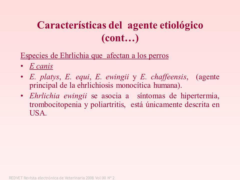 Características del agente etiológico (cont…)