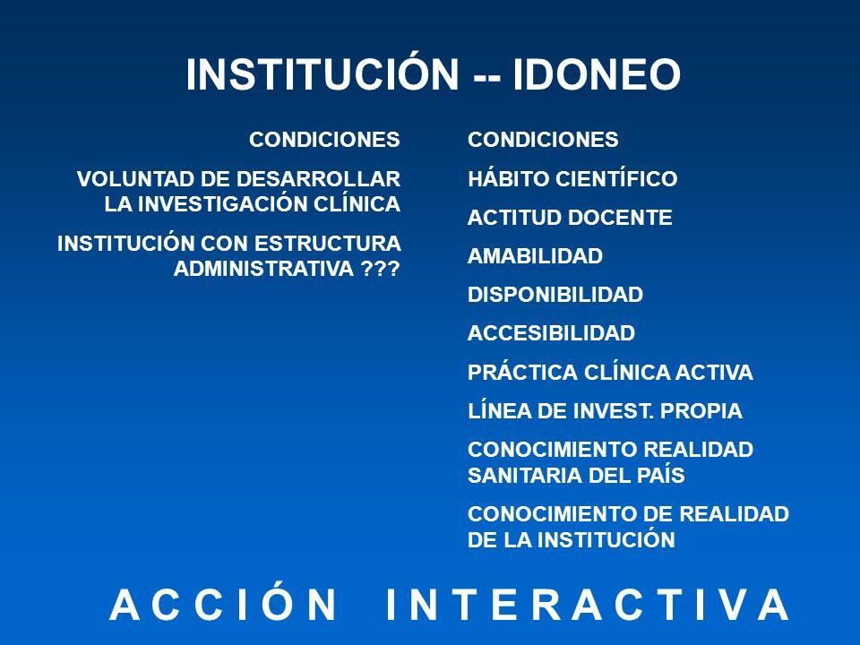 INSTITUCIÓN -- IDONEO A C C I Ó N I N T E R A C T I V A