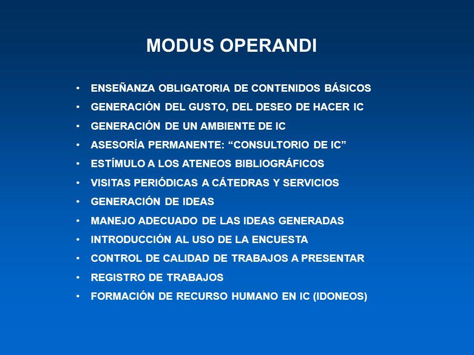 MODUS OPERANDI ENSEÑANZA OBLIGATORIA DE CONTENIDOS BÁSICOS