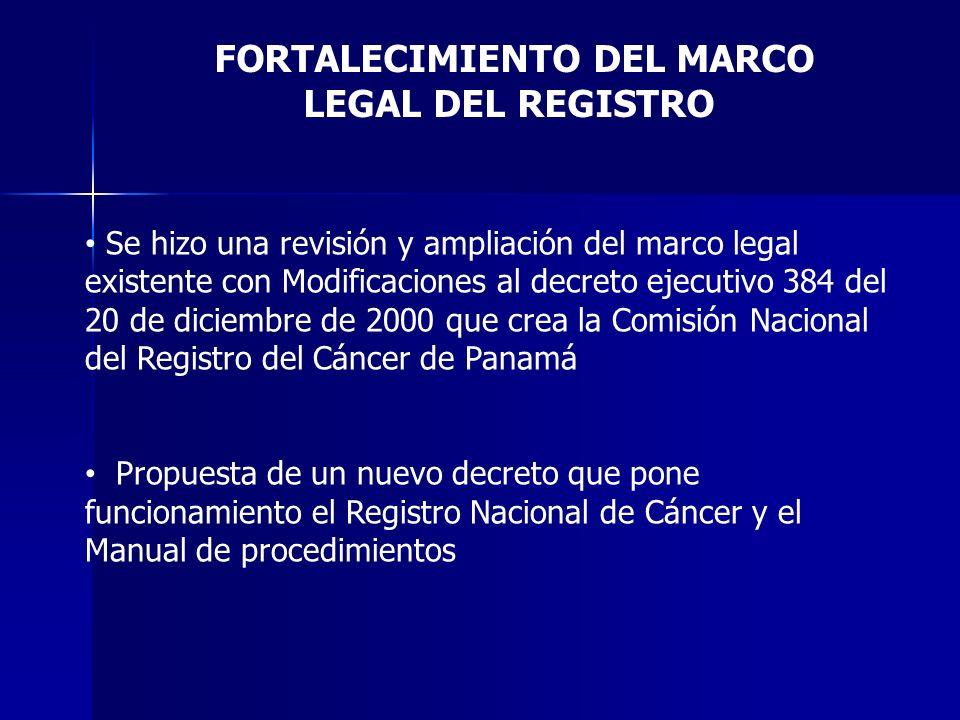 FORTALECIMIENTO DEL MARCO LEGAL DEL REGISTRO
