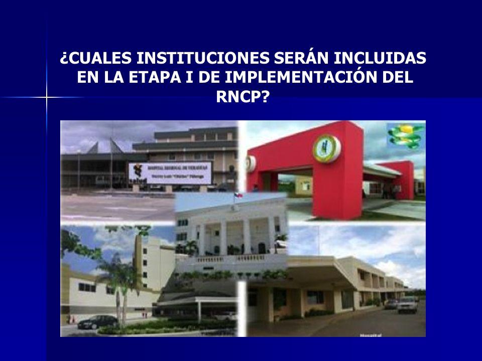 ¿CUALES INSTITUCIONES SERÁN INCLUIDAS