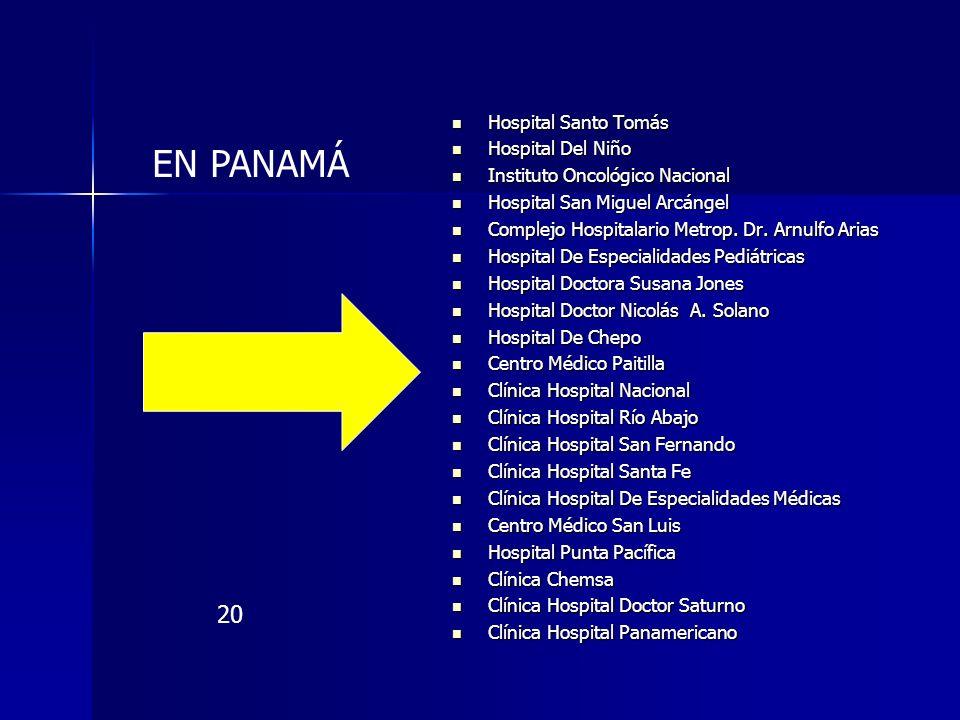 EN PANAMÁ 20 Hospital Santo Tomás Hospital Del Niño