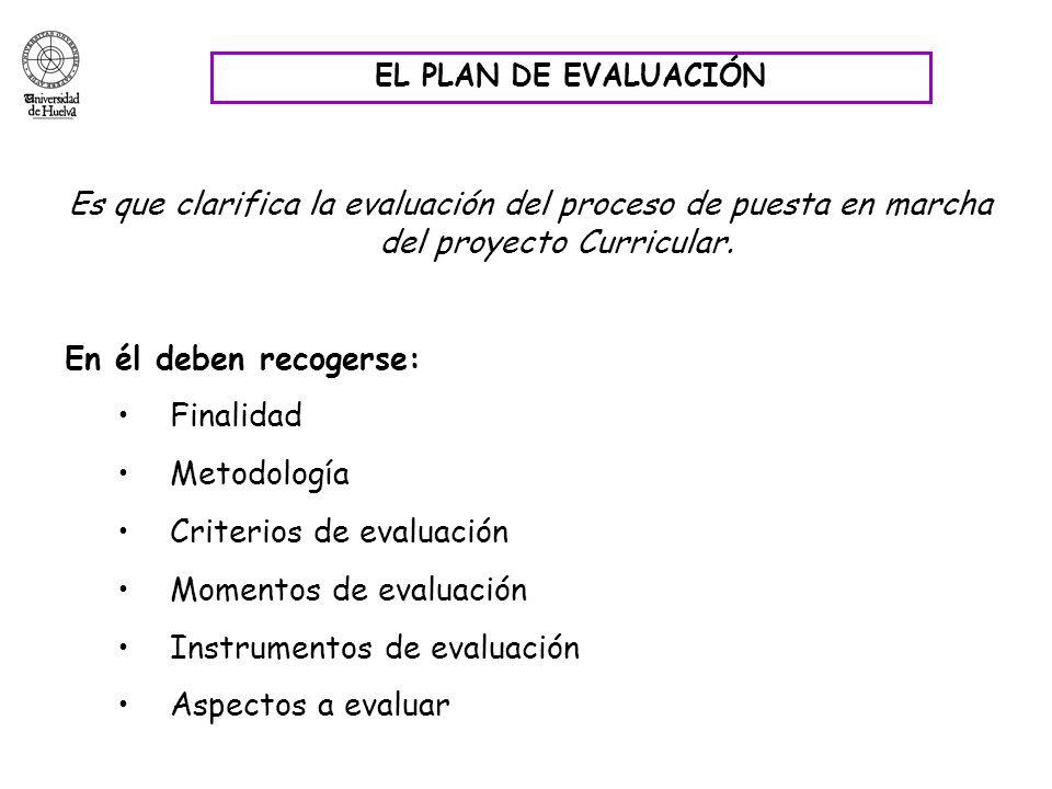 Criterios de evaluación Momentos de evaluación
