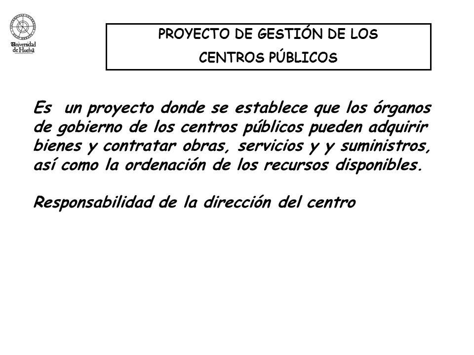 PROYECTO DE GESTIÓN DE LOS